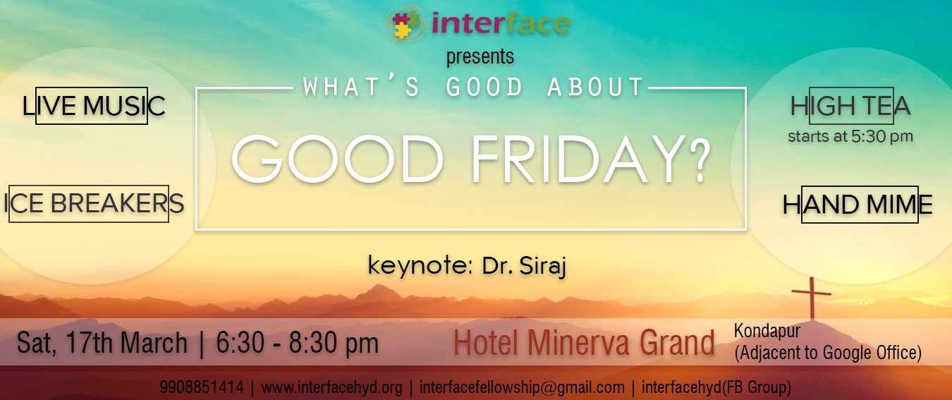 Interface – Good Friday 2018 Website Banner